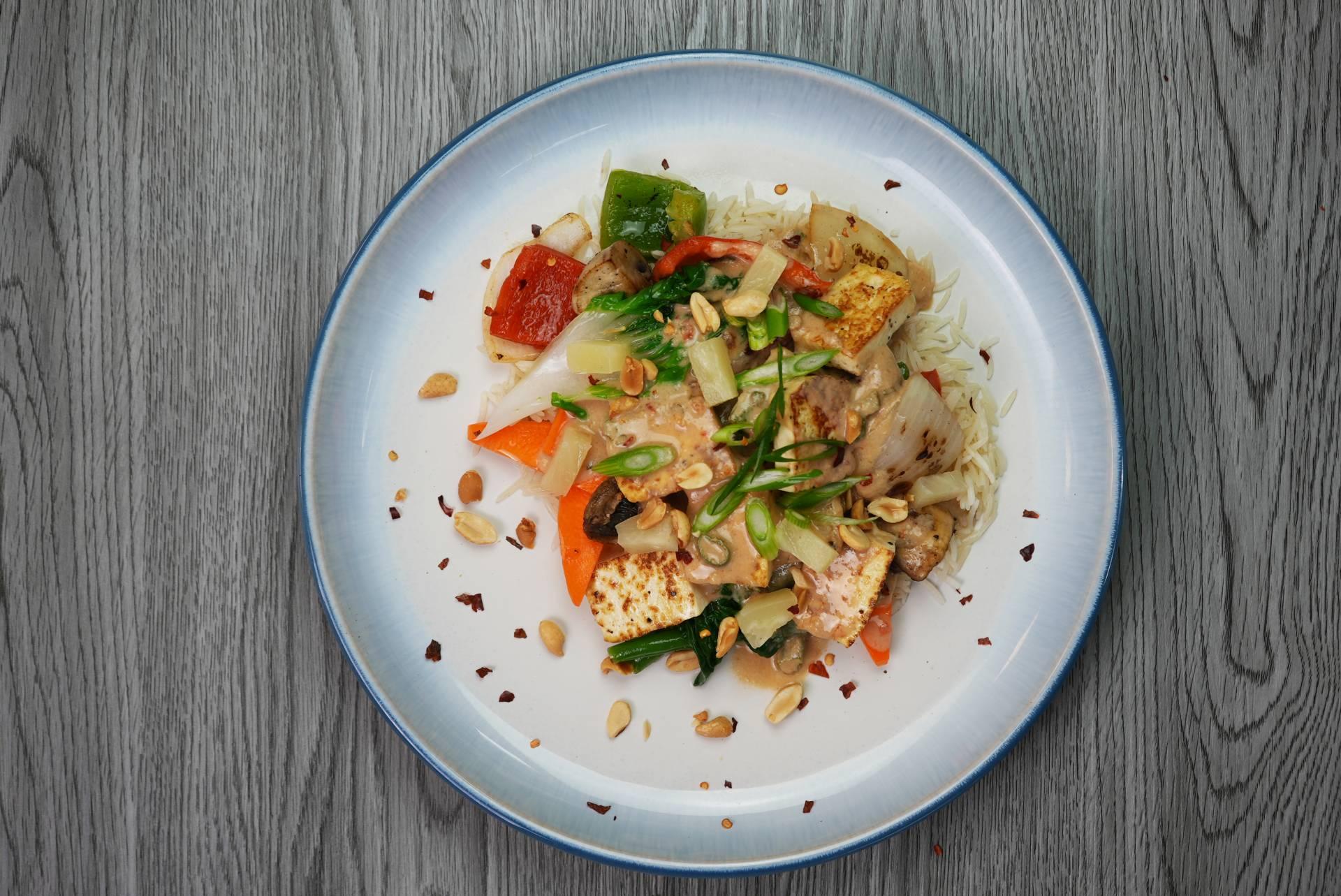 Vegan Tofu Peanut Stir Fry