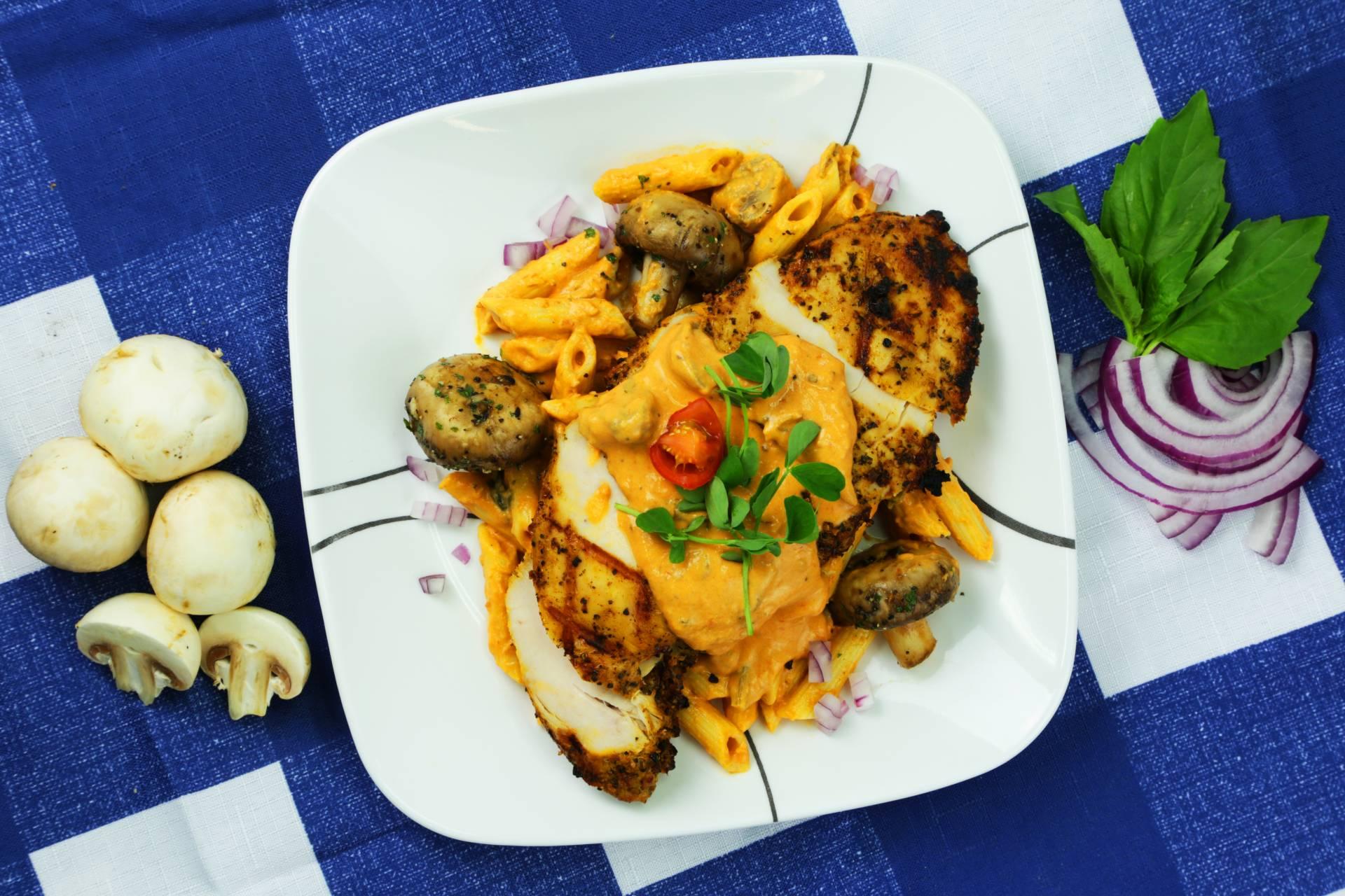 Mushroom Blush Chicken